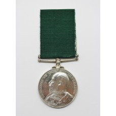 George V Volunteer Long Service & Good Conduct Medal - Pte. H.F. Derry, 2nd East India Railway Regiment (A.F.I.)