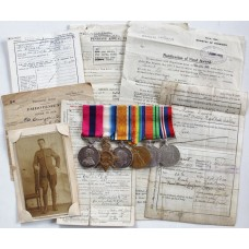 WW1 Distinguished Conduct Medal, 1914-15 Star Trio, WW2 Defence & War Medal Group of Six - B.S.Mjr. G. Dunger, Royal Horse Artillery / Royal Field Artillery - Wounded
