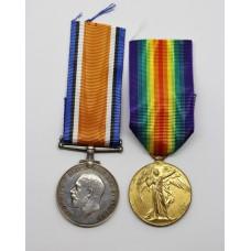 WW1 British War & Victory Medal Pair - Spr. W. Ridsdale, Roya