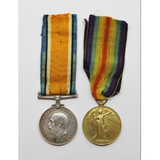 WW1 British War & Victory Medal Pair - Pte. J. Clayton, West Riding Regiment
