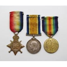 WW1 1914-15 Star Medal Trio - Gsr./Dkyn. F. Clayton, Mercantile Fleet Auxiliary