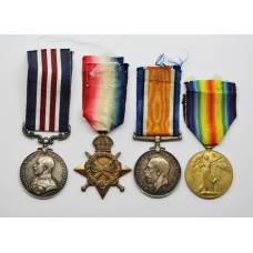 WW1 Military Medal and 1914-15 Star Trio - Cpl / 2nd Lieut. J.C.