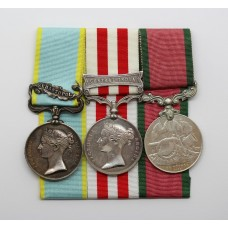 1854 Crimea Medal (Clasp - Sebastopol), Indian Mutiny Medal (Clasp - Central India) & Turkish Crimea Medal - Jas Butler, 72nd Highlanders