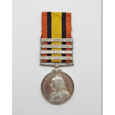 Queen's South Africa Medal (Clasps - Orange Free State, Transvaal, Laing's Nek, South Africa 1901) - Pte. W. Ball, South Lancashire Regiment