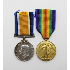 WW1 British War & Victory Medal Pair - Pte. A.R. Cannings, 10th Bn. West Yorkshire Regiment