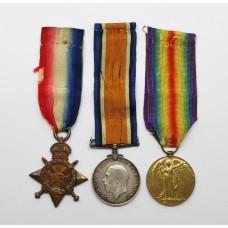 WW1 1914-15 Star Medal Trio - Pte. F.C. Terry, Royal Army Medical