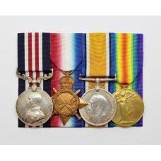 WW1 Military Medal and 1914-15 Star Trio - Cpl. G.E. Haynes, 6th Bn. York & Lancaster Regiment