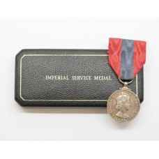 ERII Imperial Service Medal in Box of Issue - John Bath