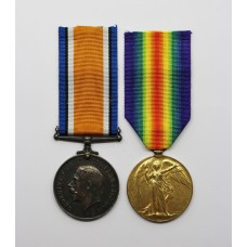 WW1 British War & Victory Medal Pair - Pte. F.J. Patmore, West Yorkshire Regiment