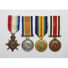 WW1 1914-15 Star Medal Trio and George V Special Constabulary Long Service Medal - 2nd Lieut. W. Clough, Royal Engineers & Machine Gun Corps