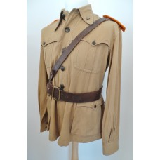 WW2 Italy Saharina Officer's Private Purchase Tunic with Sam Browne Belt