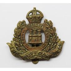 Suffolk Regiment WW1 All Brass Economy Cap Badge
