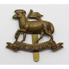 The Queen's (Royal West Surrey) Regiment WW1 All Brass Economy Ca