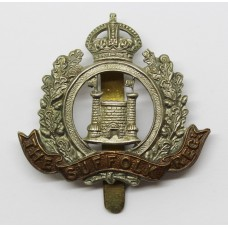 4th Battalion, Sufolk Regiment Cap Badge - King's Crown
