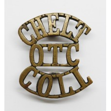 Cheltenham College O.T.C. Gloucestershire (CHELT / OTC / COLL) Shoulder Title