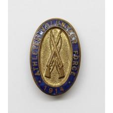 WW1 Athletes' Volunteer Force 1914 Enamelled Lapel Badge