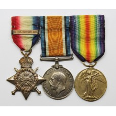 WW1 1914 Mons Star & Bar Medal Trio - Dvr. C.H. Green, Army Service Corps