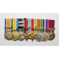 WW1, 1908 IGS (2 Clasps), WW2 and George V Long Service & Good Conduct Medal Group of Eight - Sjt. W.J. Wilcox, Royal Artillery