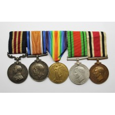 WW1 Military Medal, British War Medal, Victory Medal, WW2 Defence