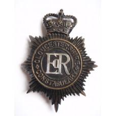 Gloucestershire Constabulary Night Helmet Plate - Queen's Crown
