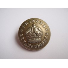 South African Prison Service Button - King's Crown