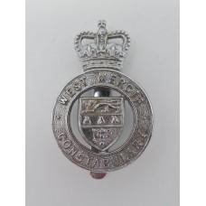 West Mercia Constabulary Cap Badge - Queen's Crown