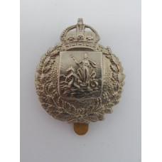 Barbados Police Cap Badge - King's Crown