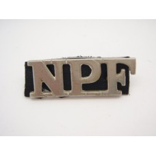 Nigerian Police Force (N.P.F.) Shoulder Title