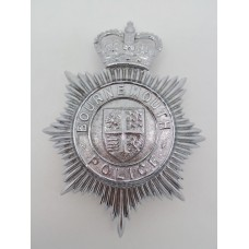 Bournemouth Borough Police Helmet Plate - Queen's Crown
