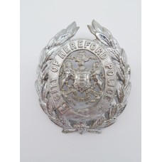 Hereford City Police Helmet Plate (Coat of Arms)