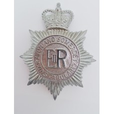 Avon and Somerset Constabulary Helmet Plate - Queen's Crown