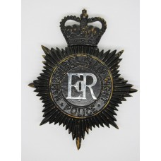 Hampshire & Isle of Wight Police Night Helmet Plate - Queen's Crown
