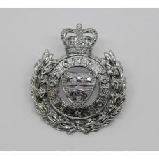 Leeds City Police Cap Badge - Queen's Crown