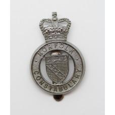 Norfolk Constabulary Cap Badge - Queen's Crown