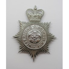 West Riding Constabulary Helmet Plate - Queen's Crown
