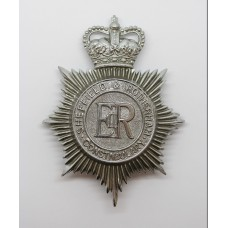 Sheffield & Rotherham Constabulary Helmet Plate - Queen's Crown