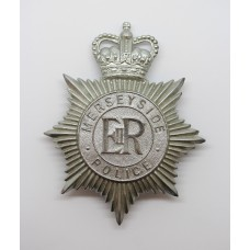 Merseyside Police Helmet Plate - Queen's Crown