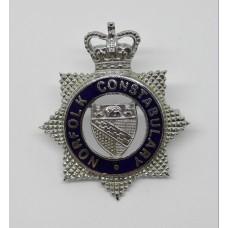 Norfolk Constabulary Senior Officer's Enamelled Cap Badge - Queen's Crown