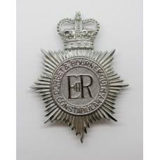 Dorset & Bournemouth Constabulary Helmet Plate - Queen's Crown
