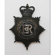 Bedfordshire Constabulary Night Helmet Plate - Queen's Crown