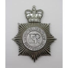 Leicester and Rutland Constabulary Helmet Plate - Queen's Crown