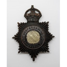 Bedfordshire Constabulary Night Helmet Plate - King's Crown