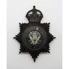 Nottinghamshire Constabulary Night Helmet Plate - King's Crown (Peacocks COA Centre)