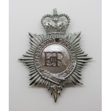 Hertfordshire Constabulary Helmet Plate - Queen's Crown