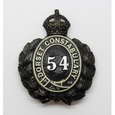 Dorset Constabulary Wreath Helmet Plate - King's Crown