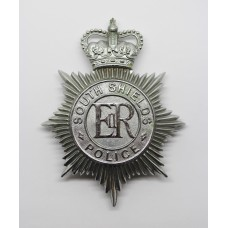 South Shields Police Helmet Plate - Queen's Crown