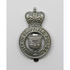 City of Sheffield Police Cap Badge - Queen's Crown