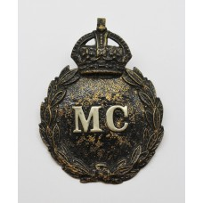 Monmouthshire Constabulary Black Wreath Helmet Plate - King's Crown