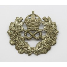 Staffordshire Constabulary Wreath Helmet Plate - King's Crown