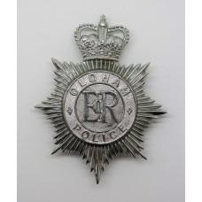 Oldham Borough Police Helmet Plate - Queen's Crown